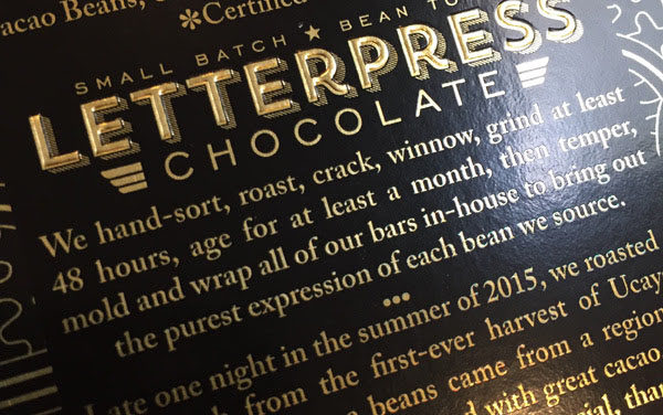 Inside Chocolate: LetterPress Chocolate's Ucayali Bar
